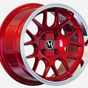 "15"" Rims Candy Red 4x100 +20 15x8 Wheels New All 4 for Sale in Huntington Park, CA"