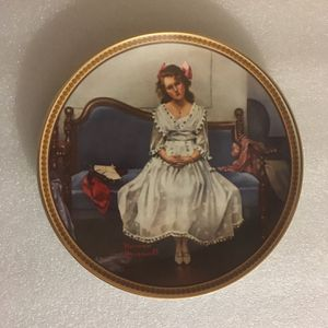 Norman Rockwell: Waiting at the Dance Decorative Plate for Sale in Claremont, CA