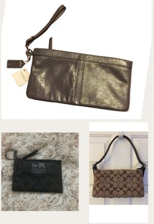 Lot of Coach bag/wristlets/coin (3 total) for Sale in Edmonds, WA