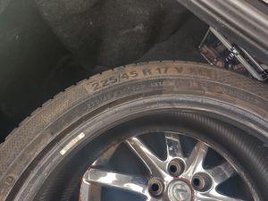 4 Lexus rims and 2 tires 17 for Sale in Lakeland, FL