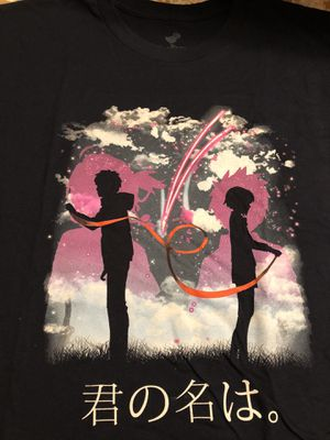 New Teefury Men's Large Shirt Your Name Anime Red String of Fate for Sale in Spring Hill, FL