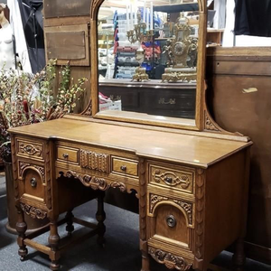 Gorgeous Antique Vanity With Stool - Delivery Available for Sale in Tacoma, WA