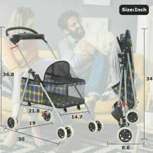Waterproof Portable Travel Cat Dog Stroller for Sale in Morgan Hill, CA