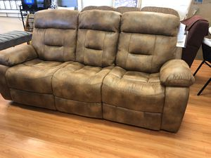 Brand New Reclining Couch 🚛Curb Side Delivery Available for Sale in Virginia Beach, VA