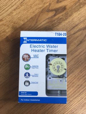 Electric Water Heater Timer for Sale in Lincoln, RI
