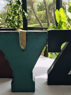 Lot Metal letters wall hanging Decor XYZ letters for Sale in Boca Raton,  FL