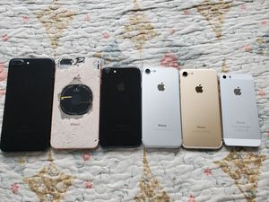 iPhones for parts only. iPhone 8 plus, iphone 7 plus, iphone 7 and iphone 5s, ALL lcIoud locked, Read desc. for Sale in Los Angeles, CA