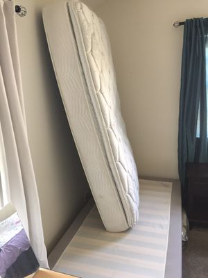Ikea bed frame (sultan aksdal) no mattress in very clean condition for Sale in Brookfield, WI