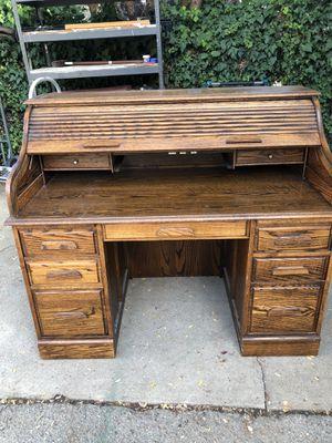 Solid Oak Desk! for Sale in Rancho Cucamonga, CA