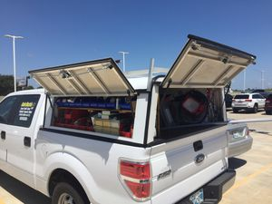 ARE custom camper shell w ladder rack and tool boxes for Sale in Oklahoma City, OK
