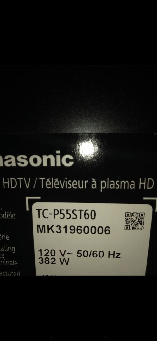 """55 Smart TV Panasonic flat screen, Working very good"