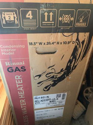 Rinnai Tankless Condensing Gas Water Heater for Sale in Seattle, WA