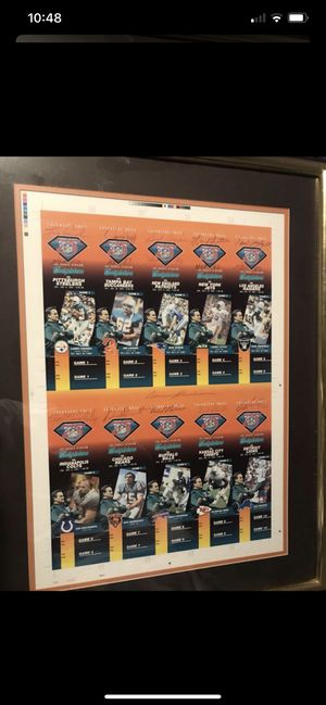 Dolphins 1972 season tickets signed by team and Don Shula for Sale in Boca Raton, FL
