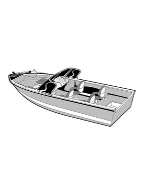 """Carver 72316P-10 Styled-to-Fit Cover for Outboard Aluminum V-Hull Boat with Walk-Thru Windshield - 16'6"""" Length x 100"""" Width for Sale in Las Vegas, NV"""