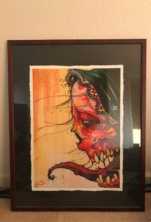 Crazy watercolor. Signed by A Strain. for Sale in Newcastle, CA