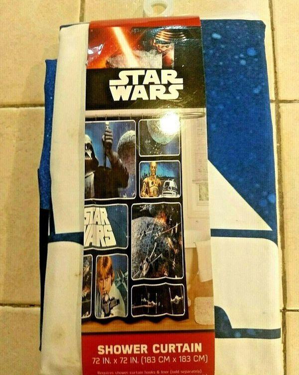 """Star Wars Classic Saga 72"""" X Fabric Shower Curtain"""