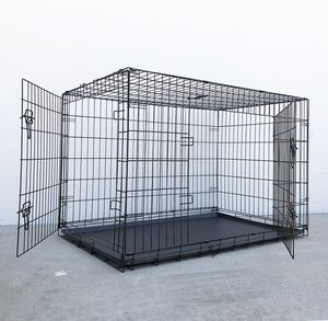 """New $65 Folding 48"""" Dog Cage 2-Door Pet Crate Kennel w/ Tray 48""""x29""""x32"""" 0 for Sale in Whittier, CA"""