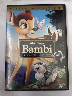 Bambi Disney, DVD 2005, 2-Disc Set, Special Edition/Platinum Edition for Sale in Phoenix, AZ
