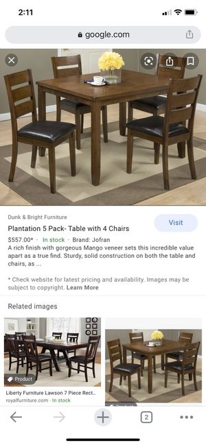 JOFRAN INC 1 table + 4 chairs for Sale in Cypress, TX