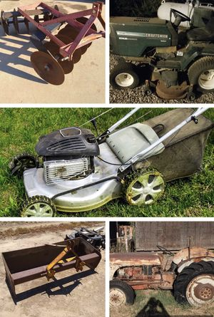 Lawn equipment / Tractor / Attachments for Sale in Fresno, CA