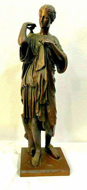 """Antique French Bronze Ferdinand Barbedienne """"Diana Von Gabii"""" Sculpture for Sale in Corona, CA"""