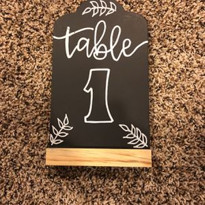 Wedding table Numbers 1-13 for Sale in Grayslake, IL