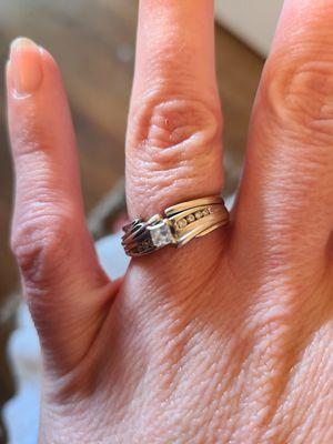 14 K Princess Cut Diamond Wedding Ring for Sale in Orem, UT