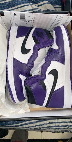 Jordan 1 court purple size 10 ds for Sale in Gardena, CA