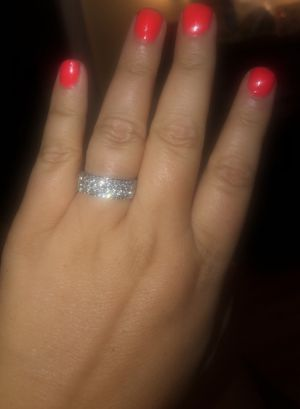 (Size 10) Unisex Wedding/Engagement/Anniversary/Promise Ring .925 Sterling Silver for Sale in Graham, NC