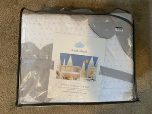 Crib Bedding Set In the Clouds 4pc - Cloud Island™ Platinum for Sale in Indianapolis, IN