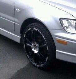 "Black/Chrome Rims with tires 18"" for Sale in Philadelphia, PA"