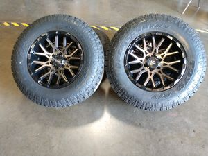 18x9.5 offset +15 and 6lg and new Toyo open country tires for Sale in Ontario, CA