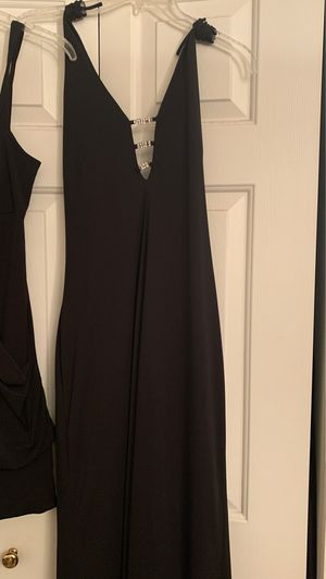 Long Black Dress, back out with jewels across. (Old dress from prom, cleaned still in tact) for Sale in Christiana, DE