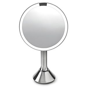 "simplehuman Sensor Lighted Makeup Vanity Mirror, 8"" Round With Touch-Control Brightness, White Stainless Steel, Rechargeable And Cordless for Sale in Houston, TX"