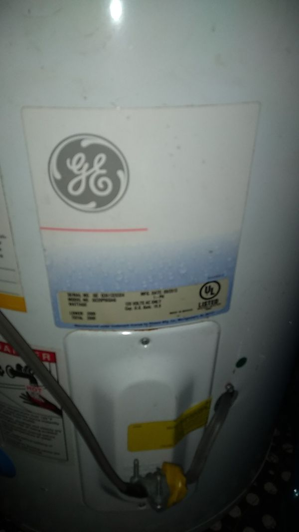 Hot water heater electric with plug GE .brand 30 gallons