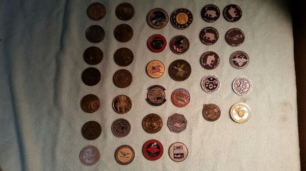 30 Military Coins and Custom Challenge Coin set And 6 Military coin