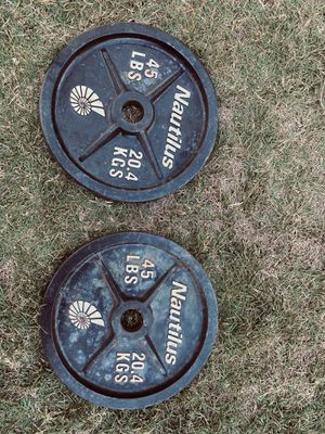 45 LBs Olympic Plates for Sale in Fresno, CA