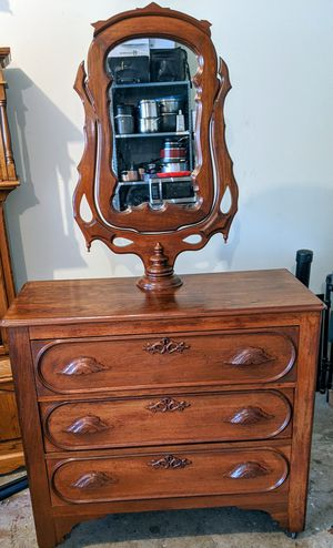 Antique Victorian dresser with wishbone mirror for Sale in Nashville, TN