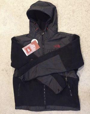 North Face / Hooded Denali Fleece Sweatshirt Jacket Coat / SIZE: Men's Small / Brand New w/ Tags! / Black, Grey & Red for Sale in Kent, WA