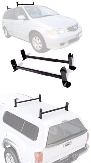 New in box roof mount van ladder cross bar rack adjustable 2 bars with hardwares for Sale in West Covina, CA
