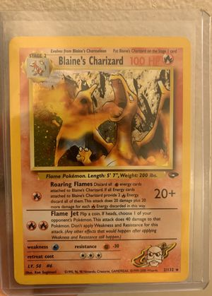 Blaine's Charizard Pokemon Rare Holo (2/132) Mint for Sale in San Jose, CA