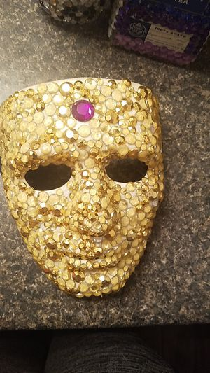 Hand Crafted Gold Bedazzled Masquerade Mask for Sale in GA, US