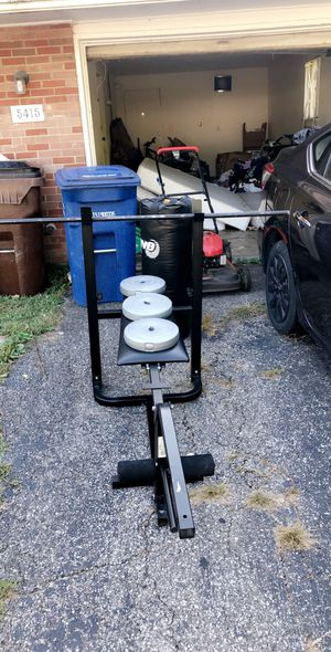 BENCH press with more 100+ weights+dumbell for Sale in Westerville, OH