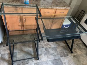 Glass Computer Desk for Sale in Shoemakersville, PA