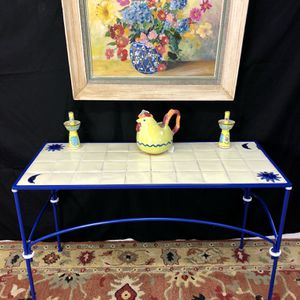 """Tile inlaid Wrought Iron Console Sofa Table 43""""x18""""xH27"""" (Delivery Service Available) for Sale in Boynton Beach, FL"""