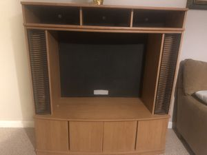 TV Stand/ Wood Storage Media Console for Sale in Worcester, MA