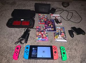Nintendo Switch 32GB + 5 Games for Sale in Los Angeles, CA