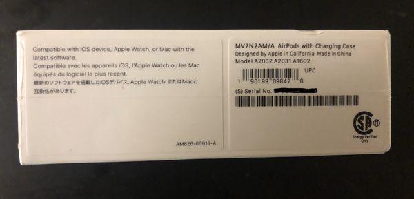 Apple airpods gen 2 - unopened