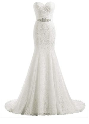 Beautiful lace wedding gown multiple sizes, ivory and white for Sale in Tacoma, WA