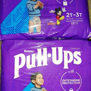 2 Bags of Huggies Pull-Ups Boys Size 2T-3T for Sale in Goodyear, AZ